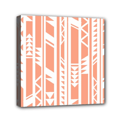 Tribal Pattern Mini Canvas 6  x 6  by AnjaniArt