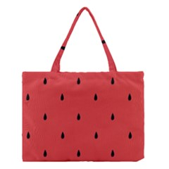 Watermelon Seeds Red Medium Tote Bag by AnjaniArt