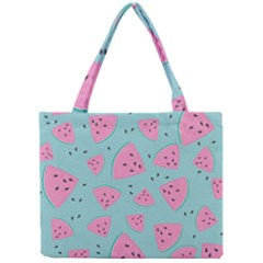 Watermelon Red Blue Mini Tote Bag by AnjaniArt