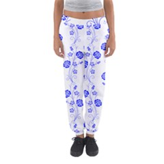 Vertical Floral Women s Jogger Sweatpants by AnjaniArt