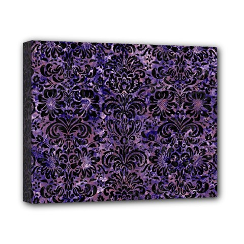 Damask2 Black Marble & Purple Marble (r) Canvas 10  X 8  (stretched)