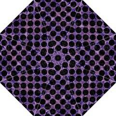 Circles2 Black Marble & Purple Marble (r) Golf Umbrella by trendistuff