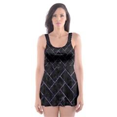 BRK2 BK-PR MARBLE Skater Dress Swimsuit by trendistuff