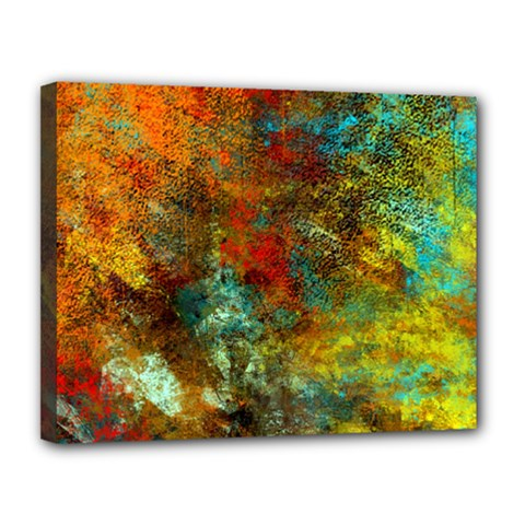 Mixed Abstract Canvas 14  X 11  by theunrulyartist