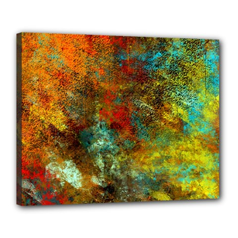 Mixed Abstract Canvas 20  X 16  by theunrulyartist