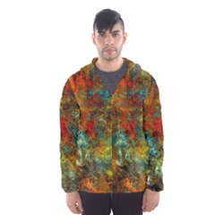 Mixed Abstract Hooded Wind Breaker (men) by theunrulyartist
