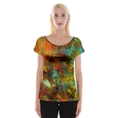 Mixed Abstract Women s Cap Sleeve Top by theunrulyartist