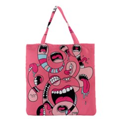 Big Mouth Worm Grocery Tote Bag