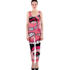 Big Mouth Worm Onepiece Catsuit
