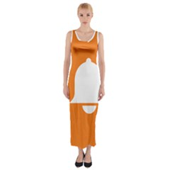 Bell Orange Copy Fitted Maxi Dress by Jojostore