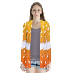 Cute Orange Copy Cardigans by Jojostore