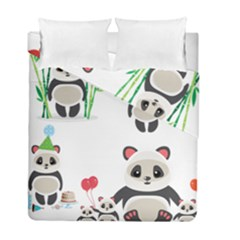 Panda Cute Animals Duvet Cover Double Side (Full/ Double Size) by Jojostore