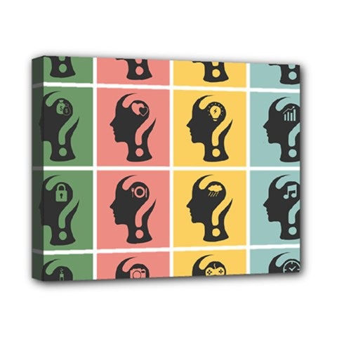 Question Face Think Canvas 10  X 8  by Jojostore