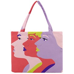 Three Beautiful Face Copy Mini Tote Bag by Jojostore