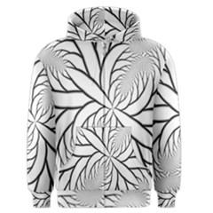 Fractal Symmetry Pattern Network Men s Zipper Hoodie by Amaryn4rt