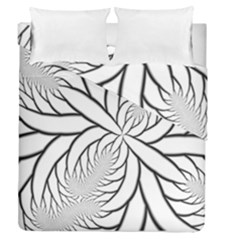 Fractal Symmetry Pattern Network Duvet Cover Double Side (queen Size) by Amaryn4rt