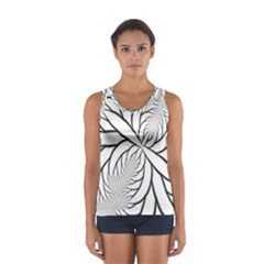 Fractal Symmetry Pattern Network Women s Sport Tank Top  by Amaryn4rt