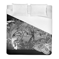 Kringel Circle Flowers Butterfly Duvet Cover (full/ Double Size)
