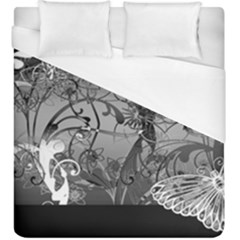Kringel Circle Flowers Butterfly Duvet Cover (king Size) by Amaryn4rt