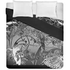 Kringel Circle Flowers Butterfly Duvet Cover Double Side (california King Size) by Amaryn4rt