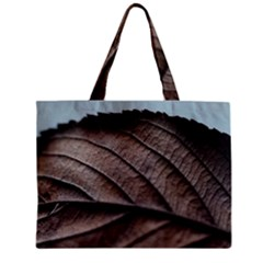 Leaf Veins Nerves Macro Closeup Zipper Mini Tote Bag by Amaryn4rt