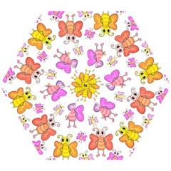 Cute Butterflies Pattern Mini Folding Umbrellas by Valentinaart