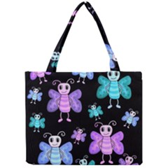 Blue And Purple Butterflies Mini Tote Bag by Valentinaart