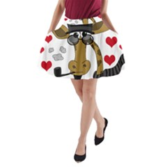 Mr  Right A Line Pocket Skirt by Valentinaart
