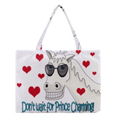 Don t Wait For Prince Sharming Medium Tote Bag by Valentinaart
