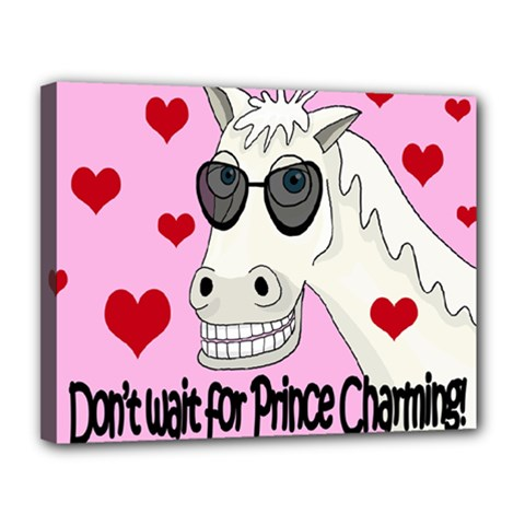Don t Wait For Prince Charming Canvas 14  X 11  by Valentinaart