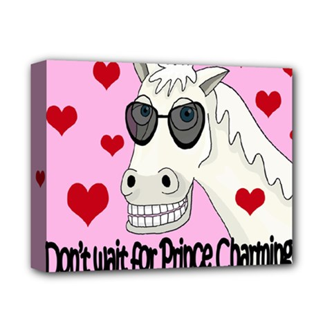 Don t Wait For Prince Charming Deluxe Canvas 14  X 11  by Valentinaart