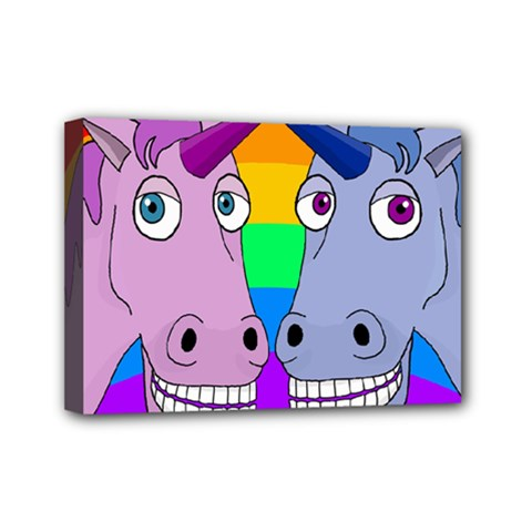 Unicorn Love Mini Canvas 7  X 5