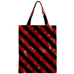 Stripes3 Black Marble & Red Marble (r) Zipper Classic Tote Bag