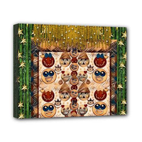Festive Cartoons In Star Fall Canvas 10  X 8  by pepitasart