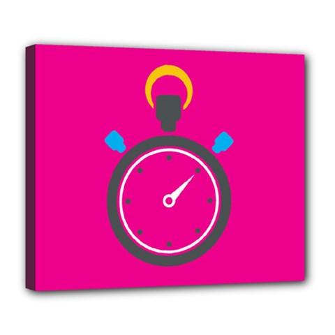 Alarm Clock Houre Deluxe Canvas 24  X 20   by Jojostore