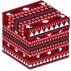 Asterey Red Pattern Storage Stool 12   by Jojostore