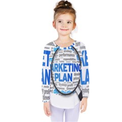 Article Market Plan Kids  Long Sleeve Tee by Jojostore