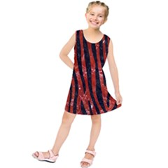 SKN4 BK-RD MARBLE Kids  Tunic Dress by trendistuff