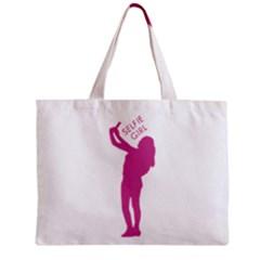 Selfie Girl Graphic Zipper Mini Tote Bag by dflcprints