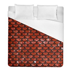 Scales3 Black Marble & Red Marble (r) Duvet Cover (full/ Double Size) by trendistuff