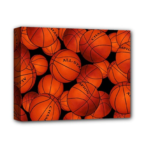 Basketball Sport Ball Champion All Star Deluxe Canvas 14  X 11  by Jojostore