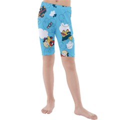 Bear Aircraft Kids  Mid Length Swim Shorts by Jojostore