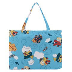 Bear Aircraft Medium Zipper Tote Bag by Jojostore