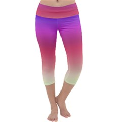 Blue Pink Purple Red Capri Yoga Leggings