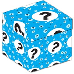 Blue Question Mark Storage Stool 12   by Jojostore