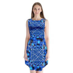 Network Connection Structure Knot Sleeveless Chiffon Dress   by Amaryn4rt