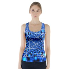Network Connection Structure Knot Racer Back Sports Top by Amaryn4rt