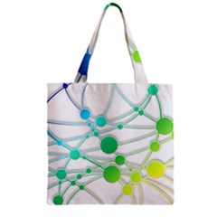 Network Connection Structure Knot Zipper Grocery Tote Bag by Amaryn4rt