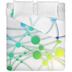 Network Connection Structure Knot Duvet Cover Double Side (california King Size) by Amaryn4rt