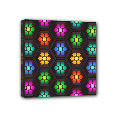 Pattern Background Colorful Design Mini Canvas 4  x 4